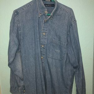 Nautica Jean Dress Shirt Sz: M